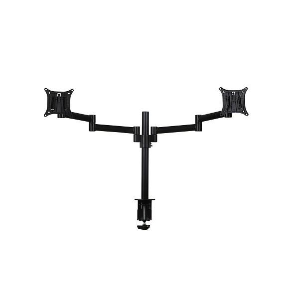 Skylar Double Monitorarm Zwart