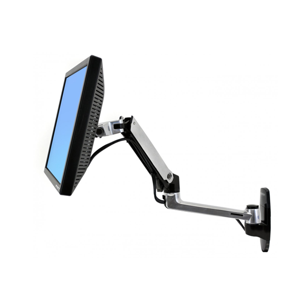LX Wall Mount Monitor Arm Zilver