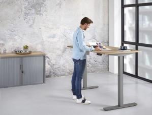 Zit/Sta Bureau Elektrisch ErgoDesk 72-118 cm | Kleur: Aluminium