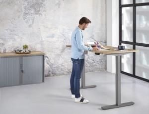 Zit/Sta Bureau Handmatig ErgoDesk 72-118 cm | Kleur: Aluminium