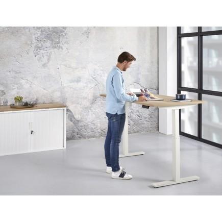 Zit/Sta Bureau Elektrisch ErgoDesk 72-118 cm | Kleur: Wit