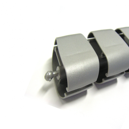 Kabelslurf Zilver Ovaal - kabelmanagement