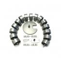 Kabelslurf Zilver Rond - kabelmanagement