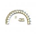 Kabelslurf Zilver Half-Ovaal - kabelmanagement
