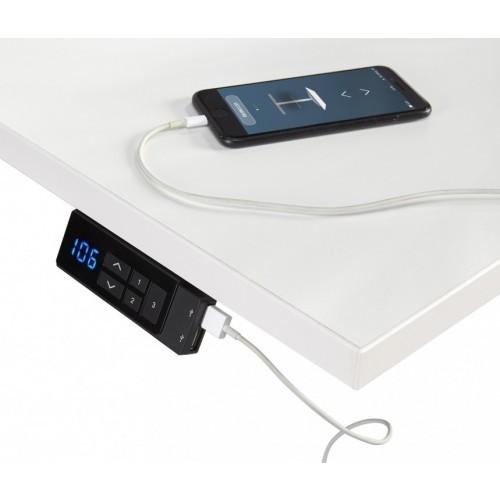 Zit/Sta Bureau Elektrisch ErgoDesk 65-130 cm | Kleur: Zwart