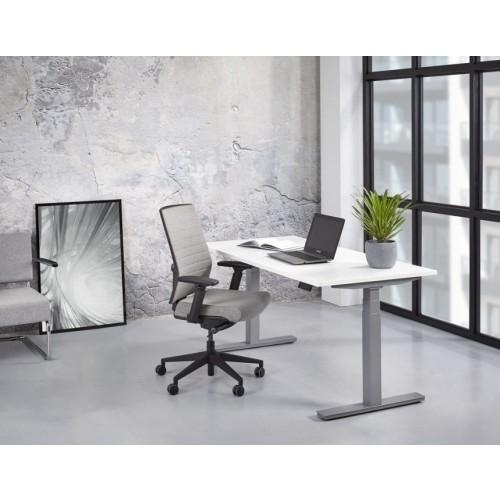 Zit/Sta Bureau Elektrisch ErgoDesk 65-130 cm | Kleur: Aluminium