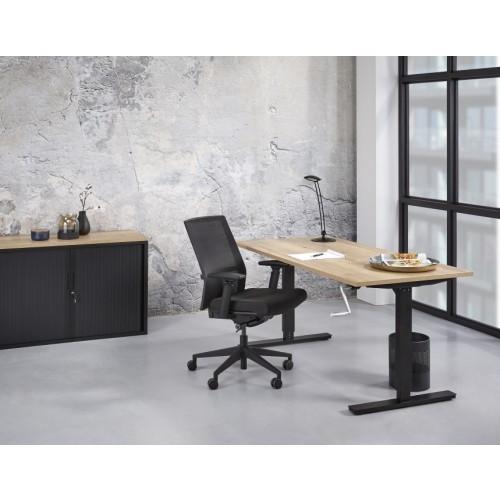 Zit/Sta Bureau Handmatig ErgoDesk 72-118 cm | Kleur: Zwart