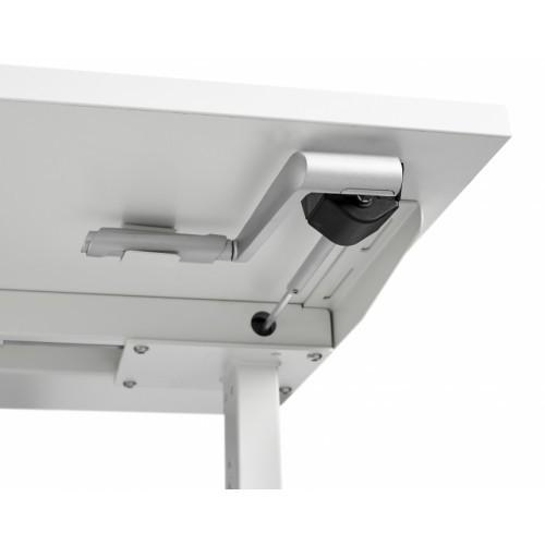 Zit/Sta Bureau Handmatig ErgoDesk 72-118 cm | Kleur: Wit