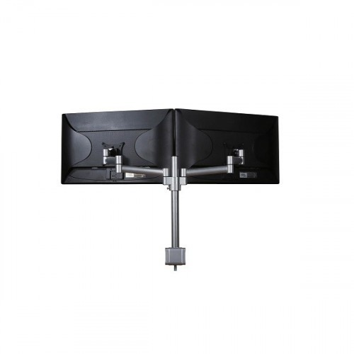 Skylar Double Monitorarm Zilver - monitor beugel