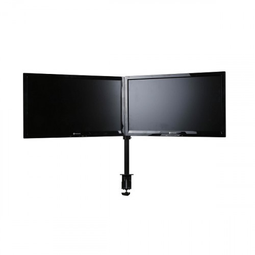 Skylar Double Monitorarm Zwart - monitor beugel