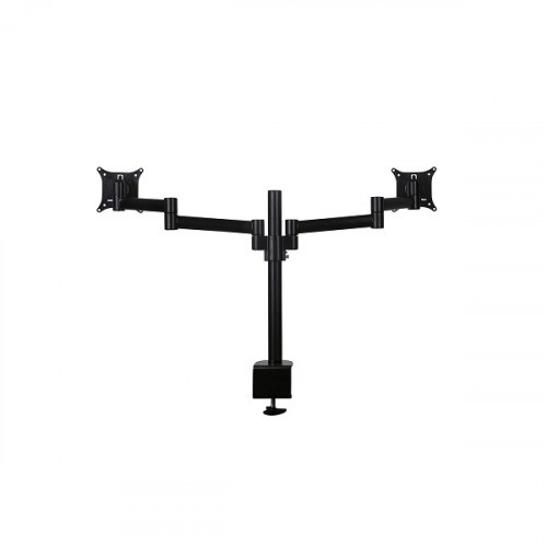 Skylar Double Monitorarm Zwart - monitor beugel