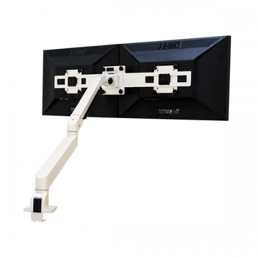 Devia Monitorarm Double Wit 2-10kg - monitor beugel