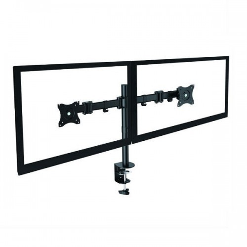 Taro Double Monitorarm Zwart - monitor beugel